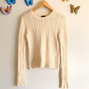 George Small Cashmere 100% Cream Knit Sweater